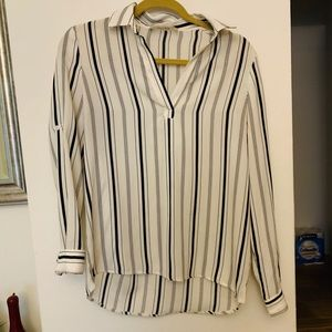 Hippie Love V-neck striped blouse, never been worn